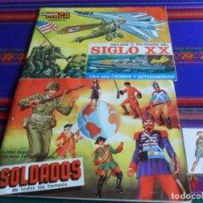 Coleccionismo Álbum: SOLDADOS DE TODOS LOS TIEMPOS COMPLETO. MAGA 1981. REGALO HECHOS Y SOLDADOS DEL SIGLO XX INCOMPLETO.. Lote 254394685
