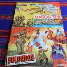 Coleccionismo Álbum: SOLDADOS DE TODOS LOS TIEMPOS INCOMPLETO FALTA 9 CROMOS HECHOS Y SOLDADOS DEL SIGLO XX COMPLETO MAGA. Lote 254396545