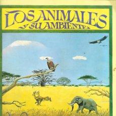 Coleccionismo Álbum: ANTIGUO ALBUM DE 1980 LOS ANIMALES Y SU AMBIENTE COMPLETO. Lote 254420500