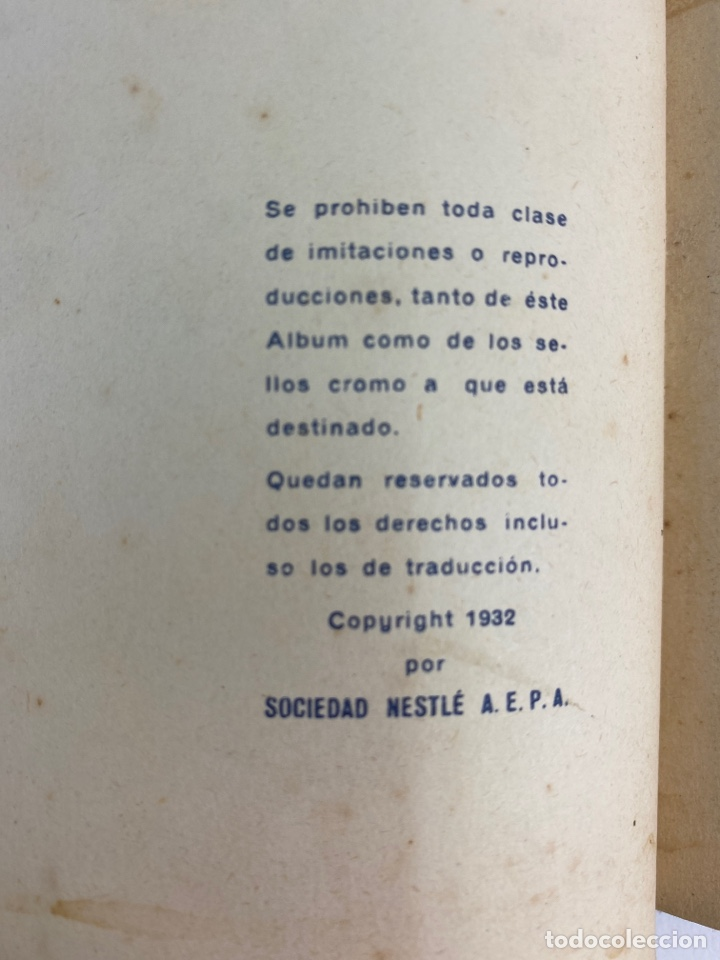 Coleccionismo Álbum: MI ALBUM NESTLE, COMPLETO. 1932. - Foto 3 - 254756470