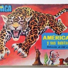 Coleccionismo Álbum: AMÉRICA Y SUS HABITANTES AÑO 1968 COLECCIÓN COMPLETA DE 252 CROMOS ÁLBUM MAGA FHER PANINI BRUGUERA. Lote 255407295