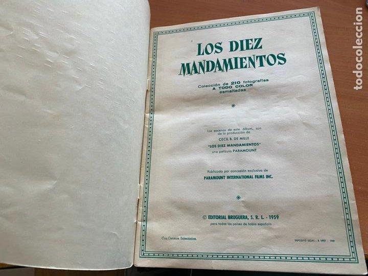 Coleccionismo Álbum: LOS DIEZ MANDAMIENTOS ALBUM COMPLETO 210 CROMOS BRUGUERA (COIB26) - Foto 2 - 255549260