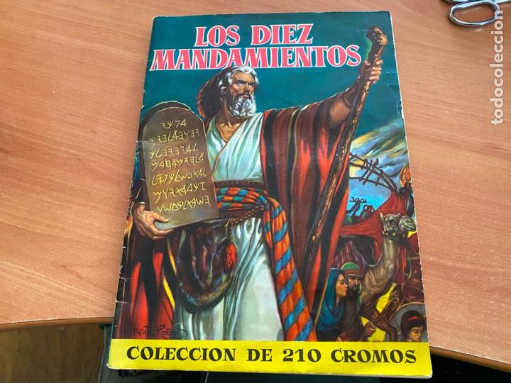 LOS DIEZ MANDAMIENTOS ALBUM COMPLETO 210 CROMOS BRUGUERA (COIB26) (Coleccionismo - Cromos y Álbumes - Álbumes Completos)