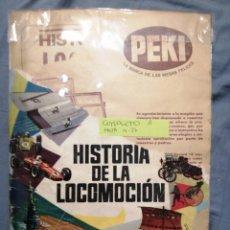 Coleccionismo Álbum: HISTORIA DE LA LOCOMOCIÓN COMPLETO A FALTA DEL NÚMERO 14 Y 17. Lote 257747800