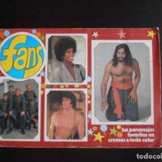 Coleccionismo Álbum: ALBUM DE CROMOS, FANS, COMPLETO, 1976. Lote 261333885