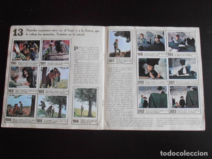 Coleccionismo Álbum: ALBUM DE CROMOS, LAS AVENTURAS DE PINOCHO, VULCANO PANINI, 1972, MUY BUEN ESTADO - Foto 5 - 261334680