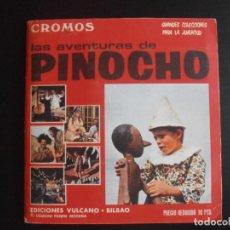 Coleccionismo Álbum: ALBUM DE CROMOS, LAS AVENTURAS DE PINOCHO, VULCANO PANINI, 1972, MUY BUEN ESTADO. Lote 261334680