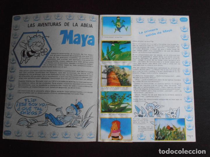 Coleccionismo Álbum: ALBUM DE CROMOS, LA ABEJA MAYA, COMPLETO, DANONE - Foto 2 - 261350565