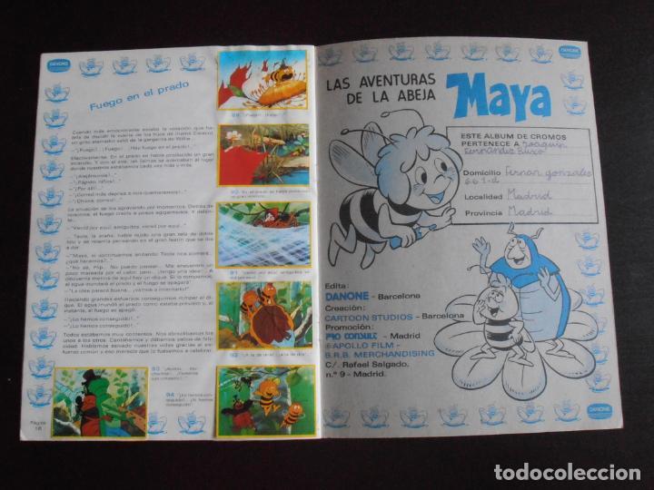Coleccionismo Álbum: ALBUM DE CROMOS, LA ABEJA MAYA, COMPLETO, DANONE - Foto 7 - 261350565