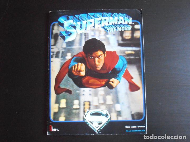 ALBUM DE CROMOS, SUPERMAN THE MOVIE, COMPLETO, FHER (Coleccionismo - Cromos y Álbumes - Álbumes Completos)