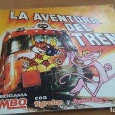 Coleccionismo Álbum: LA AVENTURA DEL TREN BIMBO (BIMBORAMA). TIGRETÓN Y PANTERA ROSA. COMPLETO A FALTA DE POCOS ADHESIVOS. Lote 261791495