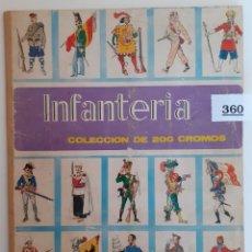 Coleccionismo Álbum: LOTE 360 - ALBUM CROMOS COMPLETO INFANTERIA - EDITORIAL RUIZ ROMERO. Lote 262289395
