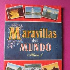 Coleccionismo Álbum: MARAVILLAS DEL MUNDO ALBUM 1 ALBUM DE CROMOS COMPLETO BRUGUERA. Lote 263056220