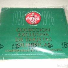 Coleccionismo Álbum: ALBUM COLECCION EXCLUSIVA DE TARJETAS OLIMPICAS - COCA COLA - SIN ABRIR - AÑOS 90. Lote 263583345