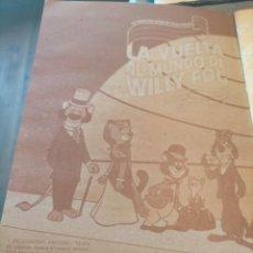 Coleccionismo Álbum: ALBUM LIBRO PARA CROMOS LA VUELTA AL MUNDO DE WILLY FOG COMPLETO DANONE. Lote 265464284
