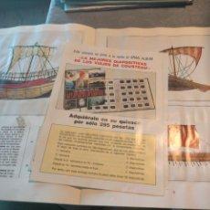 Coleccionismo Álbum: ALBUM LIBRO DE CROMOS BARCOS DEL MUNDO DE LA COLECCION LOS SECRETOS DEL MAR COMPLETO. Lote 265467154