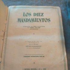 Coleccionismo Álbum: ALBUM LIBRO DE CROMOS LOS DIEZ MANDAMIENTOS 1959 EDITORIAL BRUGUERA COMPLETO. Lote 265467769