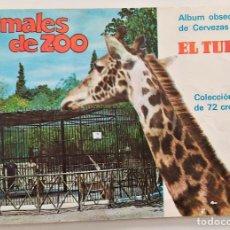 Coleccionismo Álbum: ANIMALES DEL ZOO - ALBUM OBSEQUIO DE CERVEZAS EL TURIA - COMPLETO EN BUEN ESTADO. Lote 266098373