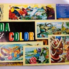 Coleccionismo Álbum: VIDA Y COLOR ALBUM DE CROMOS COMPLETO. TODAS LAS PAGINAS FOTOGRAFIADAS. Lote 267096779