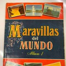 Coleccionismo Álbum: MARAVILLAS DEL MUNDO, ALBUM I. COLECCION CULTURA. ALBUM DE CROMOS COMPLETO, BUEN ESTADO.. Lote 267339384