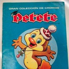 Coleccionismo Álbum: GRAN COLECCION DE CROMOS PETETE. ALBUM DE CROMOS COMPLETO. EXCELENTE ESTADO.. Lote 267370684