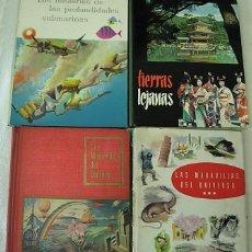 Coleccionismo Álbum: LOTE 4 X LIBROS ALBUMES DE CROMOS NESTLE 1956-1961 COMPLETOS 710 CROMOS EN TOTAL VER FOTOS. Lote 267610379