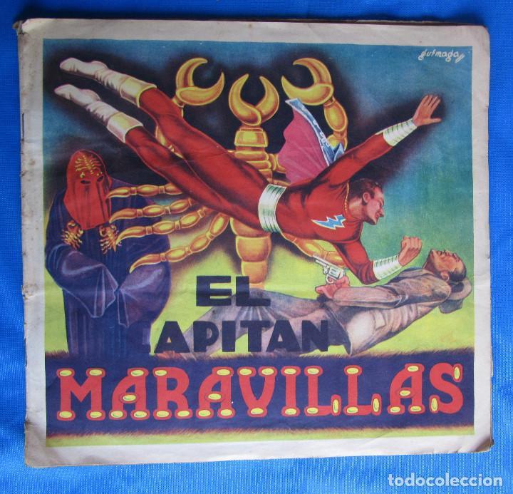 EL CAPITÁN MARAVILLAS. COMPLETO. EDITORIAL FHER, BILBAO, 1940'S (Coleccionismo - Cromos y Álbumes - Álbumes Completos)