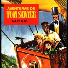 Coleccionismo Álbum: ALBUM COMPLETO PLANCHA CON LOS CROMOS SIN PEGAR AVENTURAS DE TOM SAWYER ALBUM I CHOCOLATES OLLE. Lote 268410234