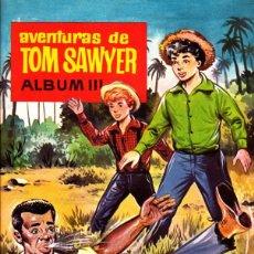 Coleccionismo Álbum: ALBUM COMPLETO PLANCHA CON LOS CROMOS SIN PEGAR AVENTURAS DE TOM SAWYER ALBUM III CHOCOLATES OLLE. Lote 268410409