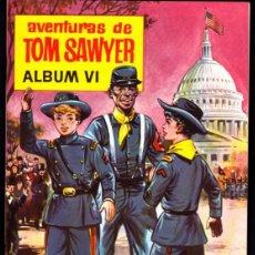 Coleccionismo Álbum: ALBUM COMPLETO PLANCHA CON LOS CROMOS SIN PEGAR AVENTURAS DE TOM SAWYER ALBUM VI CHOCOLATES OLLE. Lote 268410474