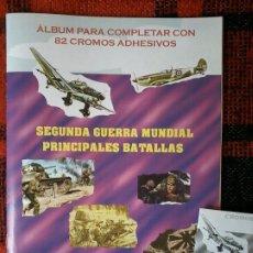 Collezionismo Álbum: ALBUM CROMOS PRINCIPALES BATALLAS SEGUNDA GUERRA MUNDIAL COMPLETO DIFICIL SIN PEGAR EN SOBRES. Lote 268918494