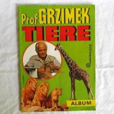 Coleccionismo Álbum: ALBUM DE CROMOS PROF. GRZIMEK TIERE AMERICANA MÜNCHEN COMPLETO. Lote 270241103