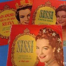 Coleccionismo Álbum: LOTE 3 ALBUM SISSI BRUGUERA 1 COMPLETO 2 CON FALTAS. Lote 270635338