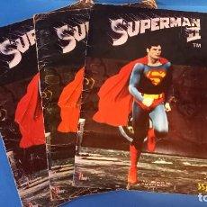 Coleccionismo Álbum: LOTE 3 ALBUM SUPERMAN II 1 COMPLETO 1 INCOMPLETO 1 VACIO. Lote 270635573