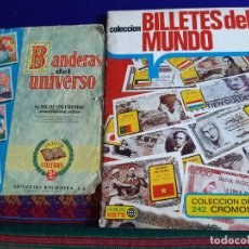 Coleccionismo Álbum: COMPLETO 1ª EDICIÓN BILLETES DEL MUNDO CON 7 COLOCA BILLETE DE ESPAÑA REGALO BANDERAS UNIVERSO. RARO. Lote 270882148