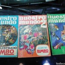 Coleccionismo Álbum: ÁLBUMES COMPLETOS, NUESTRO MUNDO BIMBO. Lote 272047688