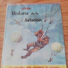 Colecionismo Caderneta: ALBUM HISTORIA DE LA AVIACIÓN. 113 CROMOS. COMPLETO. PLASTIFICADO.. Lote 272719583
