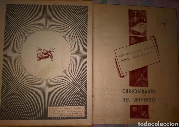Coleccionismo Álbum: ANTIGUO ALBUM CURISIDADES DEL UNIVERSO. COMPLETO. - Foto 4 - 276956483