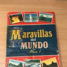 Coleccionismo Álbum: ALBUM CROMOS MARAVILLAS DEL MUNDO ALBUM 1 SERIE 3 COMPLETO.. Lote 277566978