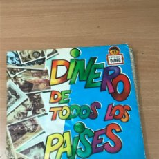 Coleccionismo Álbum: ALBUM CROMOS DINERO DE TOSO LOS PAISES ALBUM COMPLETO. CROMOS DIDEC. Lote 277567178