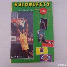Coleccionismo Álbum: ÁLBUM COMPLETO DE BALONCESTO AÑO 1988 DE J. MARCHANTE CON MICHAEL JORDAN. Lote 278183708