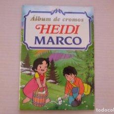 Coleccionismo Álbum: ALBUM COMPLETO DE HEIDI MARCO VACIO SIN PEGAR CON TODOS LOS CROMOS SIN PEGAR AÑO 1999 DE RBA. Lote 278189923