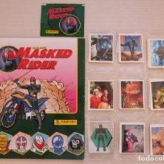 Coleccionismo Álbum: ALBUM COMPLETO DE MASKED RIDER VACIO SIN PEGAR CON 216 MAS LETRAS A-R CROMOS AÑO 1996 DE PANINI. Lote 278191543