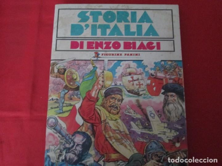 STORIA D´ITALIA DESCATALOGADO DIFICIL (Coleccionismo - Cromos y Álbumes - Álbumes Completos)