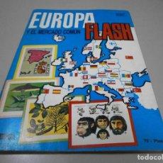 Coleccionismo Álbum: ALBUM COMPLETO EUROPA FLASH EDIVERSA 1985. Lote 278390263