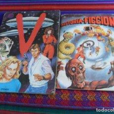 Coleccionismo Álbum: CON FLYER HISTORIA-FICCIÓN NARANJA COMPLETO. MAGA 1980. REGALO V LOS VISITANTES INCOMPLETO. 1985.. Lote 279426918