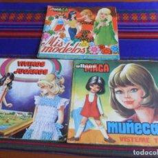 Coleccionismo Álbum: MUÑECAS VÍSTEME TÚ COMPLETO, MIS MODELOS Y VIVIMOS Y JUGAMOS INCOMPLETO. MAGA AÑOS 70. DIFÍCILES.. Lote 279427788
