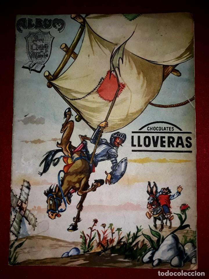 ALBUM DON QUIJOTE DE LA MANCHA COMPLETO ( DIBUJANTE IÑIGO ) CHOCOLATES LLOVERAS (Coleccionismo - Cromos y Álbumes - Álbumes Completos)
