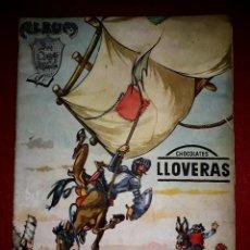Coleccionismo Álbum: ALBUM DON QUIJOTE DE LA MANCHA COMPLETO ( DIBUJANTE IÑIGO ) CHOCOLATES LLOVERAS. Lote 281802578