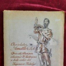 Coleccionismo Álbum: ALBUM CROMOS CHOCOLATES AMATLLER COMPLETO ILUSTRADO POR SEGRELLES. Lote 282483048